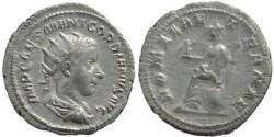 Ancient Coins - Gordian III AR silver antoninianus - ROMAE AETERNAE