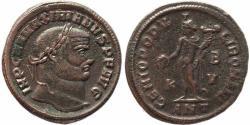 Ancient Coins - Roman coin of Maximian Ae large follis - GENIO POPVLI ROMANI - Antioch