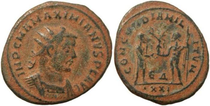 Ancient Coins - Maximianus antoninianus - CONCORDIA MILITVM