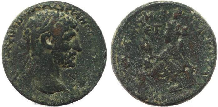 Ancient Coins - Roman Provincial coin of Hadrian of Tyana, Cappadocia