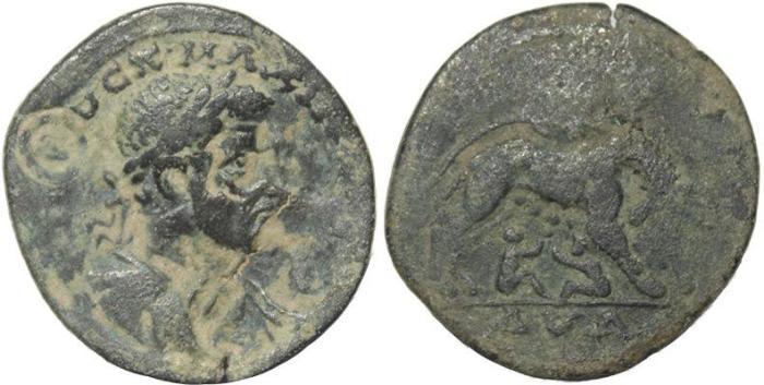 Ancient Coins - Roman Provincial coin of Maximus as Caesar of Ninica Claudiopolis,  Cilicia