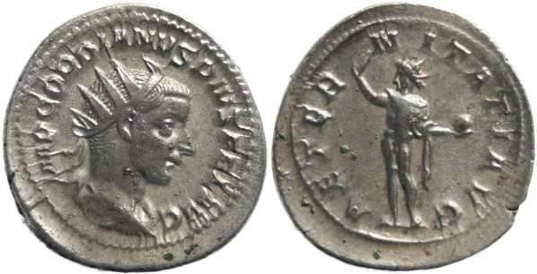 Ancient Coins - Gordian III 238-244AD Antoninianus - AETERNITATI AVG