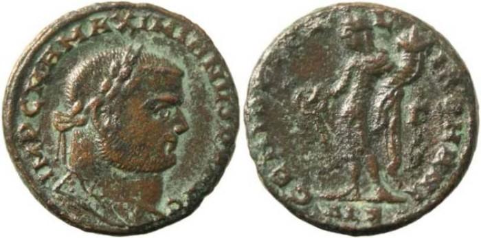 Ancient Coins - 23mm Maximianus follis - GENIO POPVLI ROMANI -Alexandria Mint