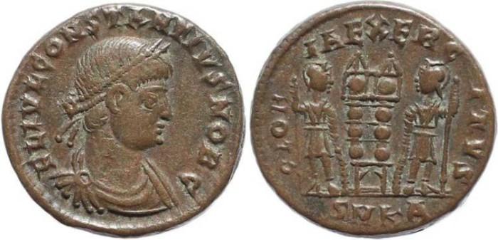 Ancient Coins - Constantius II - GLORIA EXERCITVS - Cyzicus Mint