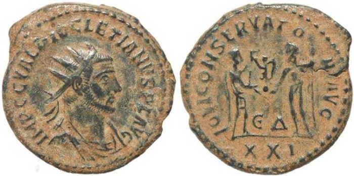 Ancient Coins - Roman coin of Diocletian - IOVI CONSERVATORI AVG - Antioch