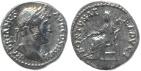Ancient Coins - Roman coin of Hadrian AR silver denarius - FORTVNAE REDVCI