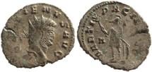 Ancient Coins - Gallienus Ae silvered antoninianus - MARTI PACIFERO - RIC 236