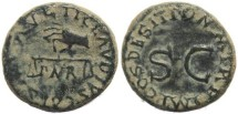 Ancient Coins - Claudius AE quadrans - PON M TR P IMP COS DES IT, S C