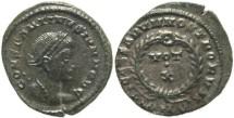 Ancient Coins - Silvered Roman coin of Constantine II - CAESARVM NOSTRORVM, VOT X - London Mint