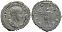 Ancient Coins - Gordian III AR silver antoninianus - VIRTVS AVG