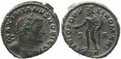 Ancient Coins - Roman coin of Galerius large silvered follis - GENIO POPVLI ROMANI - Treveri
