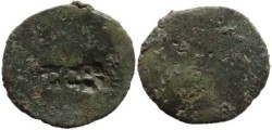 Ancient Coins - Countermarked Roman coin - TI*C*A