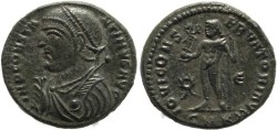 Ancient Coins - Silvered Ancient Roman coin of Constantine I - IOVI CONSERVATORI AVGG - Cyzicus
