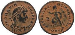 Ancient Coins - Roman coin of Gratian - SECVRITAS REIPVBLICAE - Constantinople
