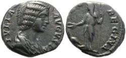 Ancient Coins - Julia Domna 193-211AD denarius - Juno