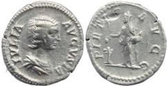 Ancient Coins - Julia Domna AR silver denarius - PIETAS AVGG