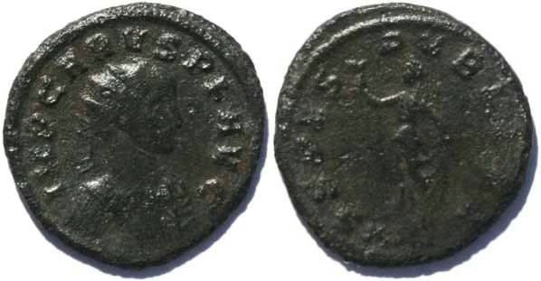 Ancient Coins - CARUS, 282-283AD Antoninianus, Spes walking holding flower
