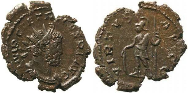 Ancient Coins - Tetricus I Antoninianus - Cologne Mint - VIRTVS AVGG