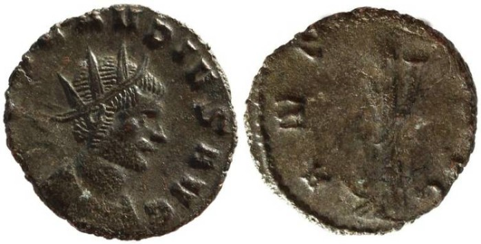 Ancient Coins - Claudius II silvered antoninianus - ANNONA AVG