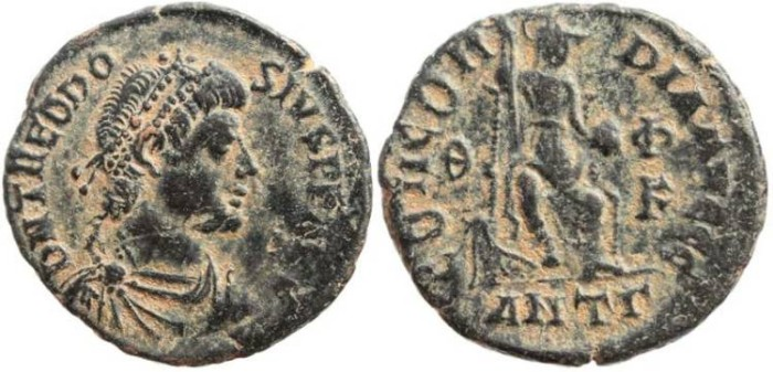 Ancient Coins - Theodosius I - CONCORDIA AVGGG - Antioch Mint
