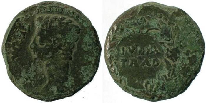 Ancient Coins - Augustus 15-14BC Julia Traducta, Spain
