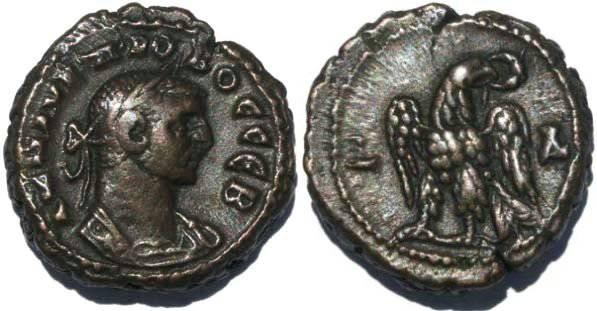 Ancient Coins - Roman Emperor Probus Potin Tetradrachm