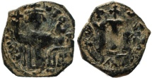 Ancient Coins - Byzantine coin of Constans II 641-668 AD Ae follis