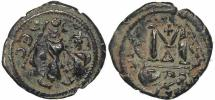 Ancient Coins - Byzantine coin of Heraclius Ae follis