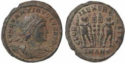 Ancient Coins - Roman coin of Constantine II - GLORIA EXERCITVS - Antioch Mint