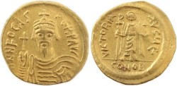 Ancient Coins - Byzantine Gold coin of the Emperor Phocas 602-610AD