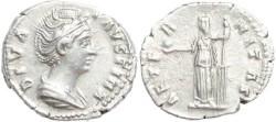 Ancient Coins - Faustina Senior denarius - AETERNITAS