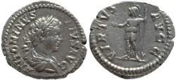 Ancient Coins - Caracalla AR silver denarius - VIRTVS AVGG