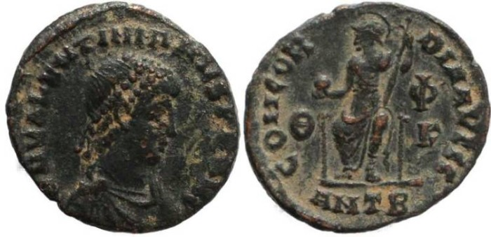 Ancient Coins - Valentinian II - CONCORDIA AVGGG - Antioch