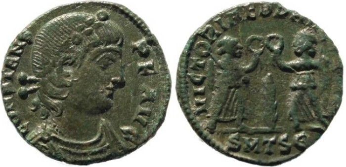Ancient Coins - Constans - VICTORIAE DD AVGG Q NN - Thessalonica Mint