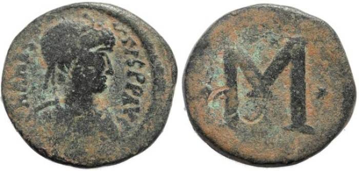 Ancient Coins - Anastasius I reduced follis