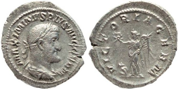 Ancient Coins - Roman coin of Maximinus I 235-238AD AR silver Denarius - VICTORIA GERM