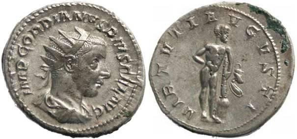 Ancient Coins - Gordian III, AR Antoninianus, AD 238-244 VIRTVTI AVGVSTI