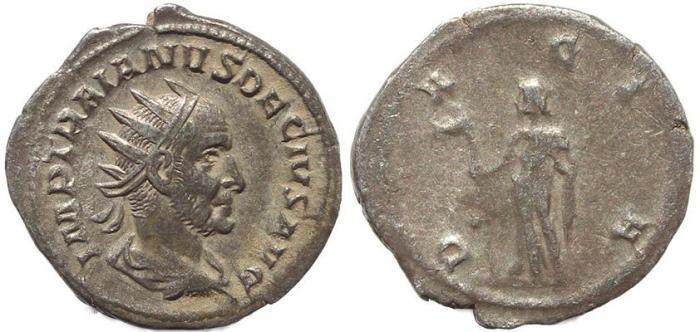 Ancient Coins - Roman coin of Trajan Decius AR antoninianus - GENIVS EXERC ILLVRICIANI
