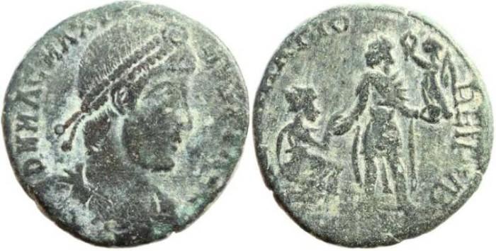Ancient Coins - Magnus Maximus 383-388AD - REPARATIO REIPVB