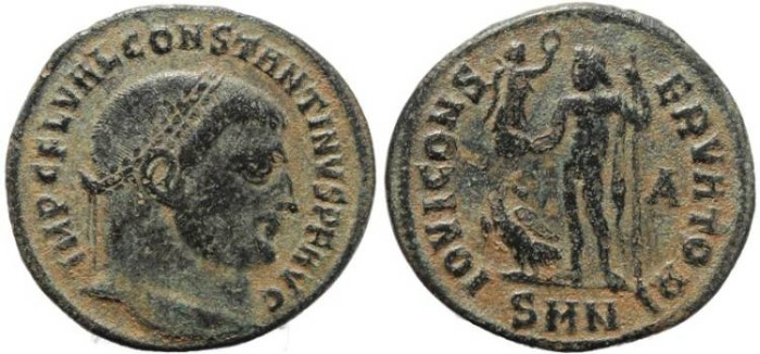 Ancient Coins - Constantine I - IOVI CONSERVATORI - Nicomedia Mint