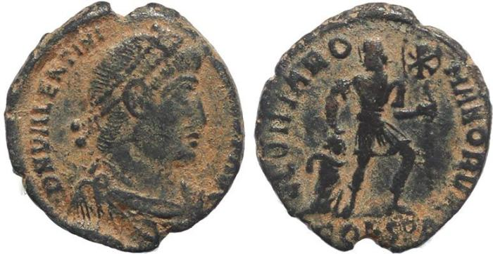 Ancient Coins - Roman coin of Valentinian I - GLORIA ROMANORVM - Constantinople