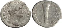 Ancient Coins - Roman Provincial coin of Hadrian AR Didrachm of Caesarea Cappadocia - Club of Hercules