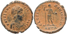 Ancient Coins - Roman coin of Theodosius I - GLORIA ROMANORVM - Antioch