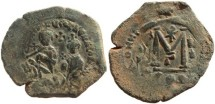 Ancient Coins - Byzantine Empire, Heraclius, 5 Oct 610 - 11 Jan 641 A.D., and Heraclius Constantine, 23 Jan 613 - 20 Apr 641 A.D