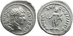 Ancient Coins - Caracalla AR Denarius Minted in Rome 213AD - P M TR P XVI COS IIII P P