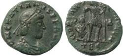 Ancient Coins - Roman coin of Gratian - GLORIA ROMANORVM - Thessalonica