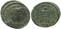 Ancient Coins - Roman coin of Constantine I - BEATA TRANQVILLITAS - Treveri