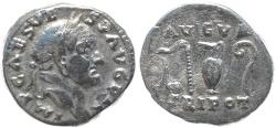 Ancient Coins - Roman coin of Vespasian AR silver denarius - AVGVR TRIPOT