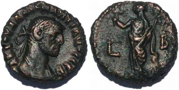 Ancient Coins - Ancient Roman coin of the Emperor Diocletian