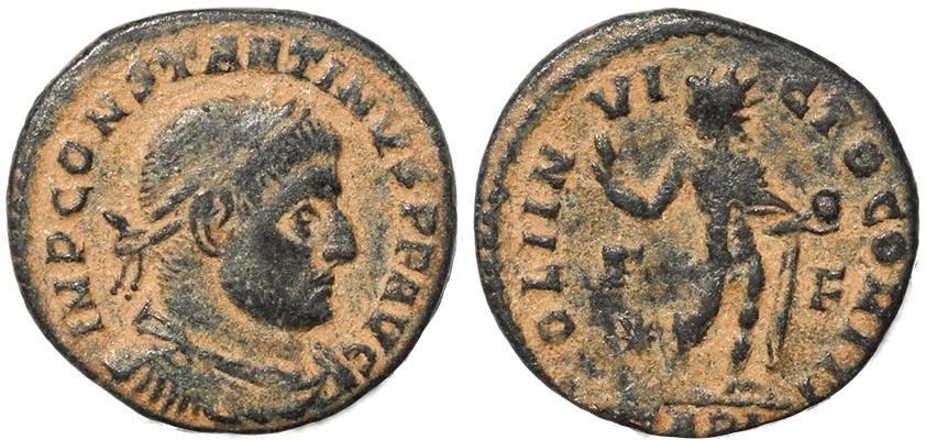 Ancient Coins - Roman coin of Constantine I - SOLI INVICTO COMITI - Arles